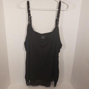Lane Bryant Black Lace Cami 3X 22/24
